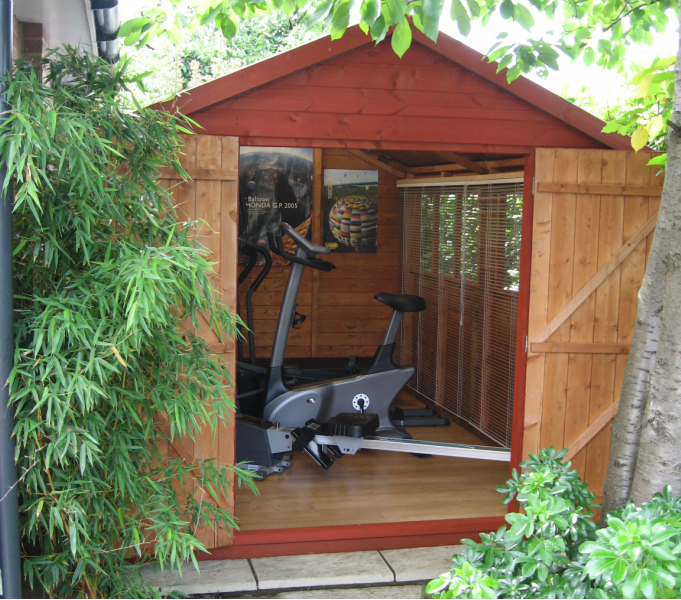 Garden gyms for Garden shed gym